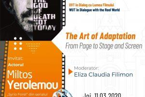 """Seria de evenimente """"La UVT, Cultura este Capitală"""" continuă printr-un nou eveniment LIVE, un dialog intercultural despre lumea filmului"""