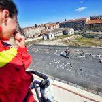 Cum și-a cerut un pompier din Timișoara iubita, și ea pompier, de nevastă. Foto