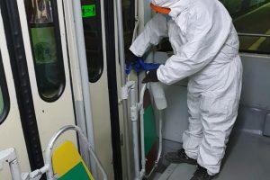 STPT continuă dezinfectarea mijloacelor de transport în comun