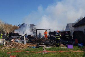 Incendiu puternic la o locuință din Sânnicolau Mare