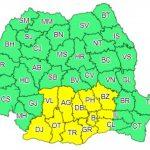 Cod galben de ninsori abundente pentru București și 12 județe