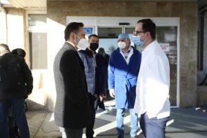 Alin Nica, prezent la deschiderea centrului non-stop de vaccinare de la Spitalul Județean