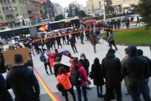Protest la Timișoara, împotriva măsurilor de restricţie