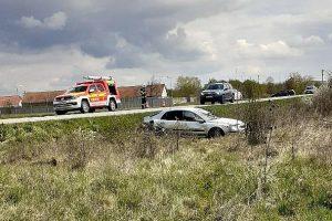 Un TIR și un autoturism s-au ciocnit la Chevereșu Mare