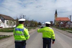 Șoferii care au trecut azi prin Liebling și Jebel, opriți de polițiști
