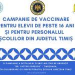 Campanie de vaccinare a elevilor de peste 16 ani și a cadrelor didactice