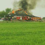 Un incendiu le-a distrus casa în prag de sărbători