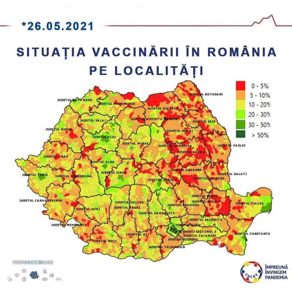 Dumbrăvița, pe primul loc în țară la vaccinarea anti-covid
