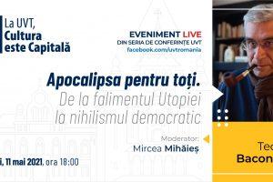 Teodor Baconschi, în conferință online la UVT