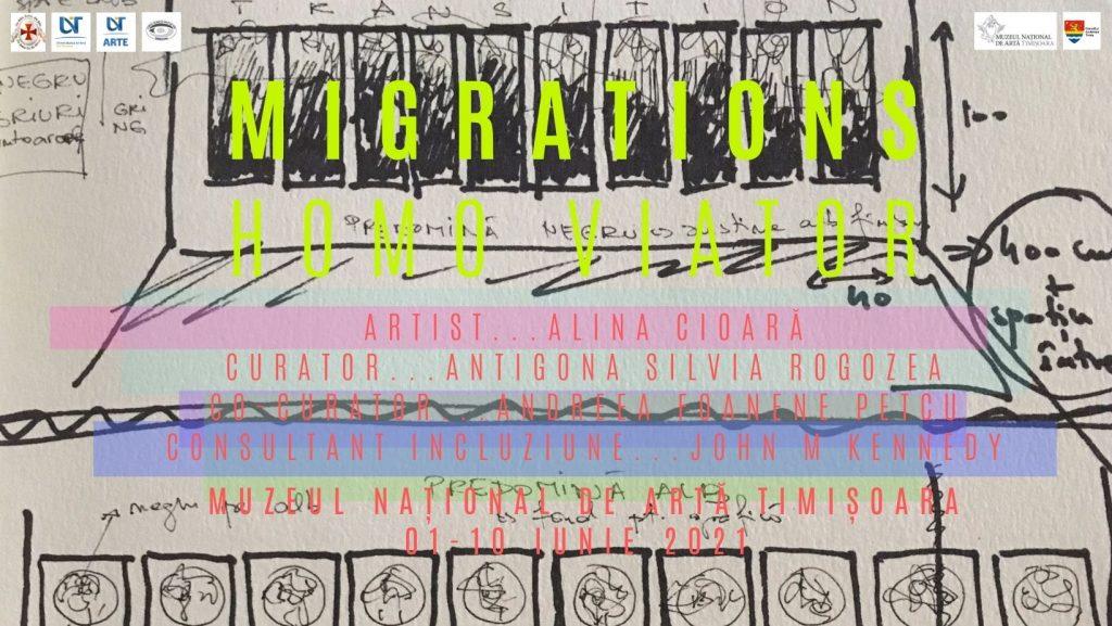 """MNArT prezintă expoziția """"Migrații. HOMO VIATOR"""", a artistei Alina Cioară.  Evenimentul, accesibil și persoanelor cu deficiențe de vedere"""
