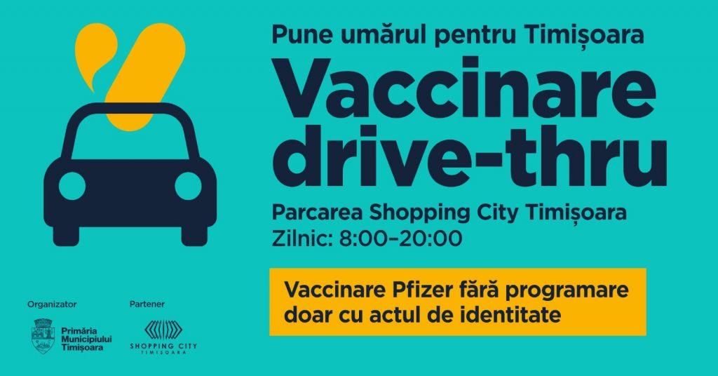 Se deschide primul centru de vaccinare anti-covid drive-thru din Timișoara