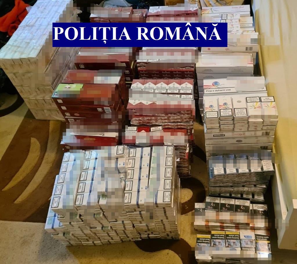 Percheziții la timișeni și arădeni care se ocupă cu contrabanda de țigări din Ucraina, Moldova și Serbia