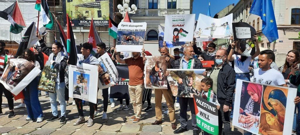 Protest al palestinienilor la Timișoara /FOTO
