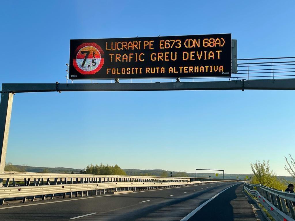 Șoferi, evitați DN 68A Margina – Holdea!