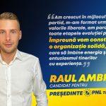 Raul Ambruș și-a depus candidatura pentru funcția de președinte al PNL Timișoara