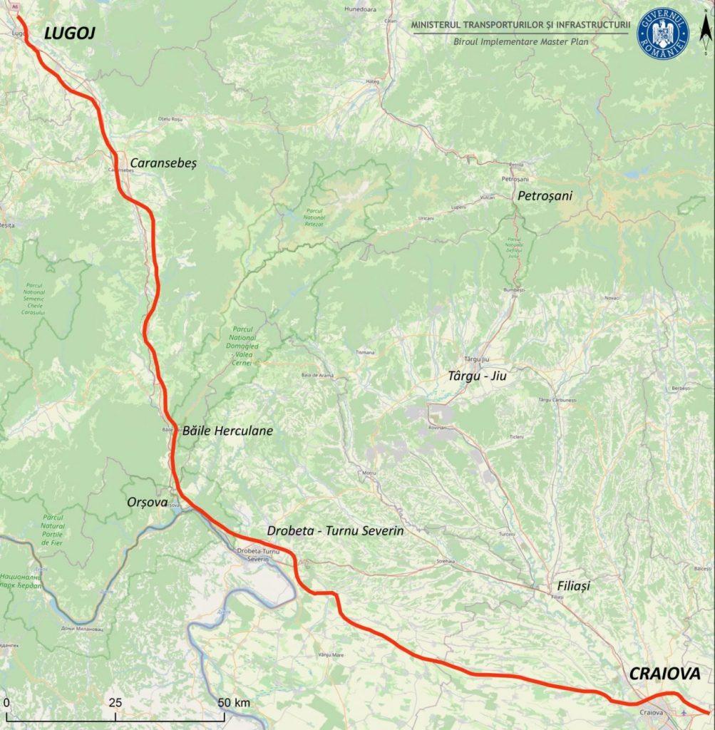 Licitația pentru proiectarea drumului de mare viteză Craiova-Lugoj, publicată pe SICAP