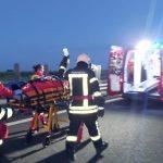 Pasageri aflați într-un microbuz, în stare gravă în urma unui accident pe autostradă
