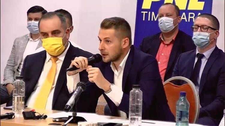 Alin Nica și Dănuț Groza continuă acțiunile de forță la adresa membrilor PNL Timișoara