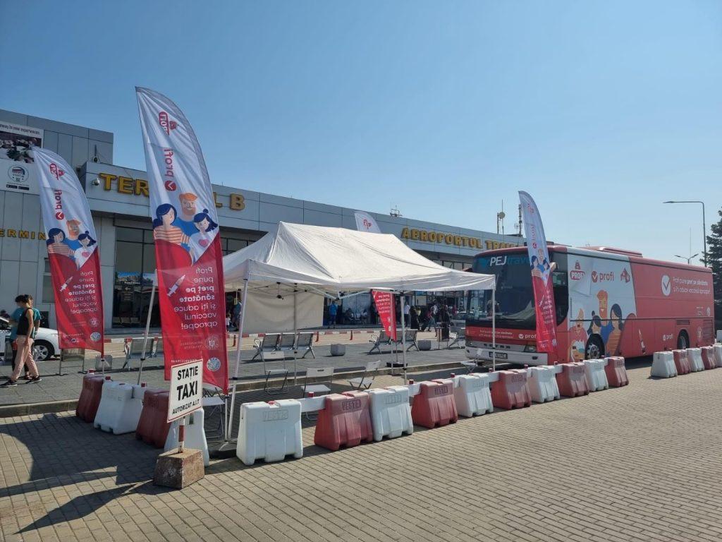 Punct mobil de vaccinare anti Covid, la Aeroportul Internațional Timișoara