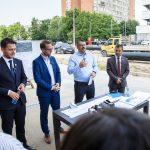 Ministrul Ghinea, în vizită pe șantierul  de reabilitare a liniilor de tramvai de pe Calea Bogdăneștilor