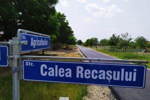 Stadiul lucrărilor de asfaltare a străzilor din Bazoș