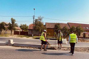 Se realizează ultimele lucrări majore pe șantierul de extindere la 4 benzi a DJ 592, Timișoara – Moșnița Nouă
