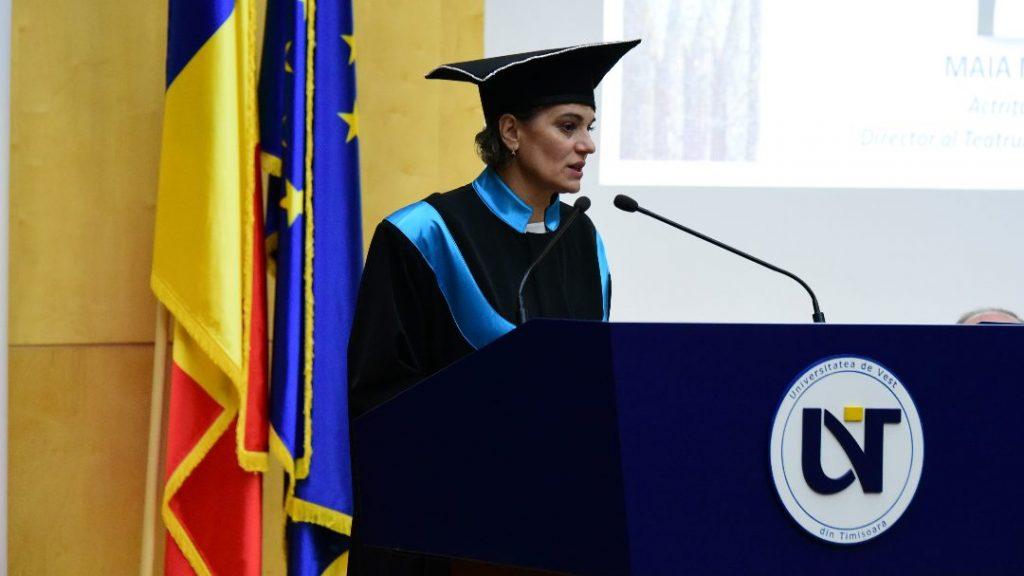 Maia Morgenstern va fi directorul onorific al Centrului de Studii Evreieşti lansat de Universitatea de Vest din Timişoara