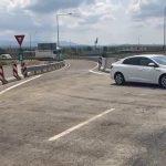 Soluție temporară de trafic în sensul giratoriu de la Margina