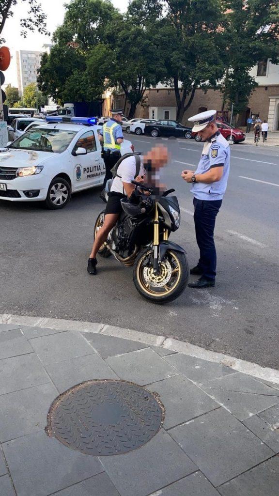 Motocicliști amendați de Poliția Rutieră