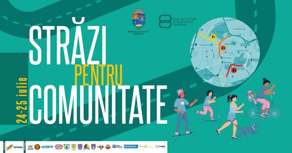 Străzi pentru Comunitate, în weekend, la Timișoara. Vezi programul complet!