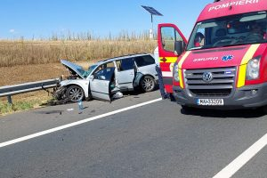 Accident pe autostradă, sensul de mers Lugoj-Timișoara