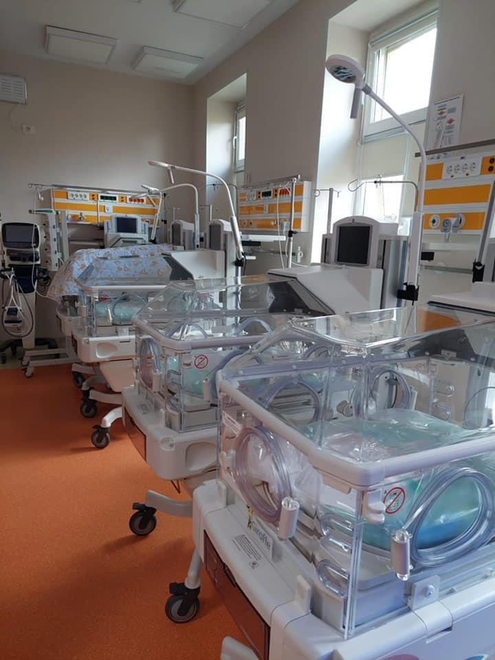 A fost finalizată dotarea secției de nou-născuți, cu 12 incubatoare