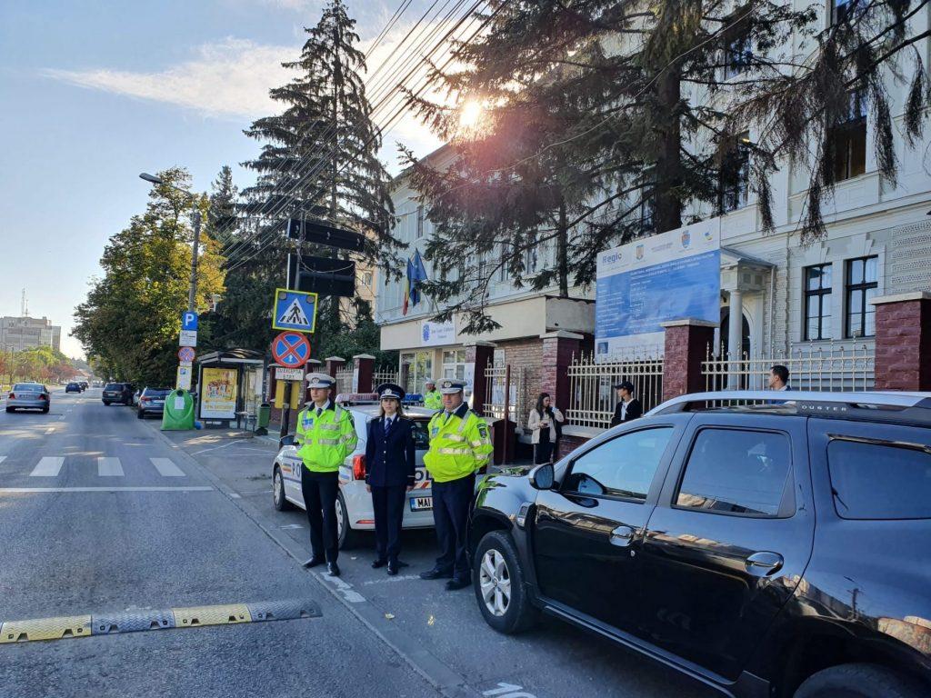 Polițiștii au acționat în zona unităților de învățământ din județ, pentru un început în siguranță al noului an școlar