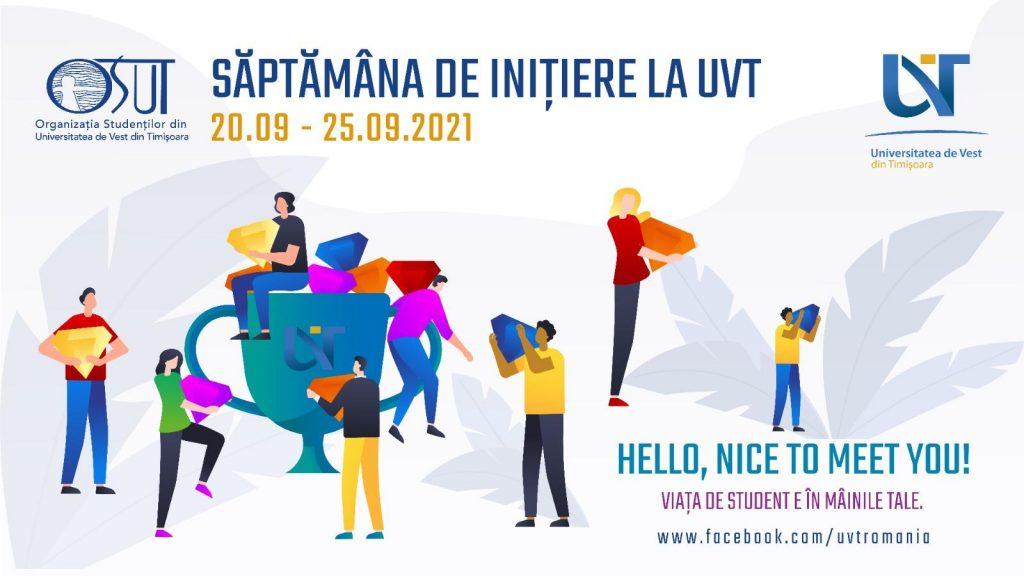 """Săptămâna de inițiere """"Bun venit la UVT"""" cuprinde zeci de evenimente și culminează cu Festivalul """"UNIVIBES"""""""