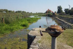 Apele Române Banat pregătesc șenalul navigabil la Uivar