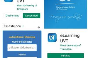 """UVT lansează, în premieră națională, aplicația """"eLearning UVT"""""""