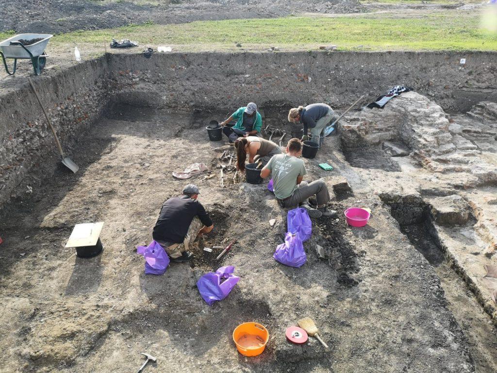 Săpături arheologice la mănăstirea cisterciană de la Igriș