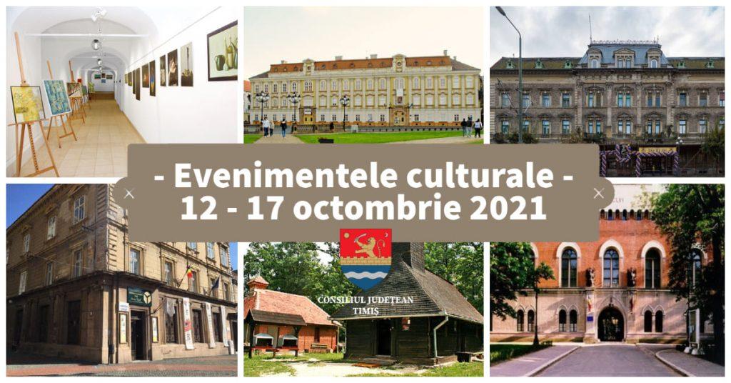 Oferta culturală a Consiliului Județean Timiș, în perioada 12 – 17 octombrie